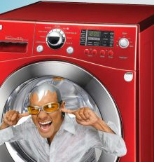 Wasmachine maakt herrie